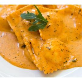 """Raviole à la Saucisse Piquante """"Sauce Poivrons"""""""